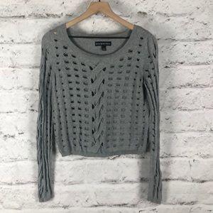 Rock & Republic Distressed Crop Sweater Sz Small